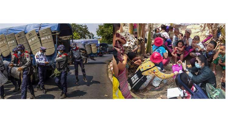 বার্মায় জান্তা বিরোধী আন্দোলনে নিহতের সংখ্যা ৫৫০ এ উন্নীত