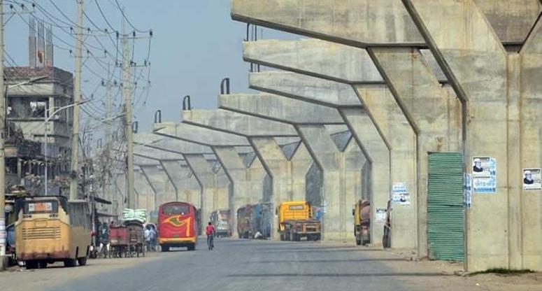 চট্টগ্রামে এলিভেটেড এক্সপ্রেসওয়ে নির্মাণ কাজ