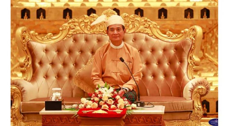 Myanmar military generals tried to force President Win Myint to resign
